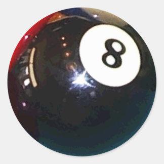 8-bal de Bal van de Pool Ronde Sticker