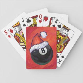 8 Kerstmis Red Hat van de bal Speelkaarten