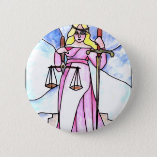 8 - Rechtvaardigheid Ronde Button 5,7 Cm