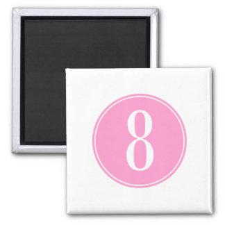 #8 roze Cirkel Magneet