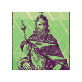 """8 """" x8"""" Kunst van de Muur van Uthur Pendragon de Houten Canvas"""