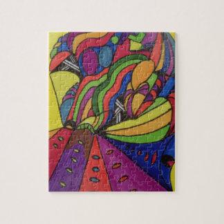 8x10 het ontwerp van het Raadsel w/abstract van de Legpuzzel
