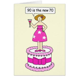 90 zijn het nieuwe 70 Vrouwelijke humeur van de Wenskaart