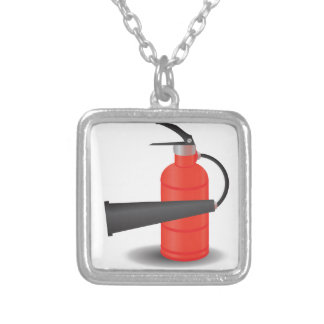 90Fire Extinguisher_rasterized Zilver Vergulden Ketting
