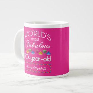 90ste Verjaardag het Meeste Fabelachtig Kleurrijk Grote Koffiekop