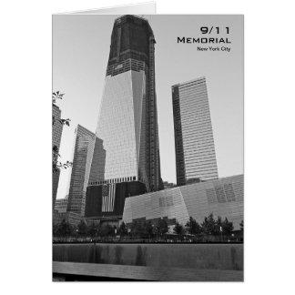 911 herdenkingsNYC Lege Kaart BW8