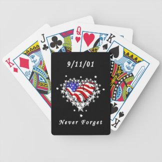 911 het tattoo vergeet nooit bicycle speelkaarten