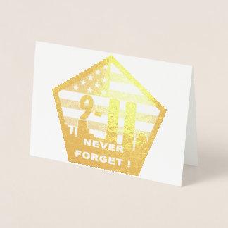 911 vergeet nooit foliewenskaart folie kaarten