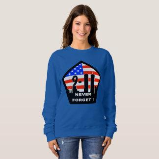 911 vergeet nooit het sweatshirt van vrouwen