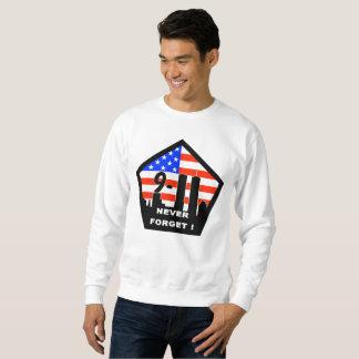 911 vergeet nooit mannen sweatshirt