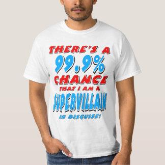 99.9% ben ik een SUPER SCHURK (blk) T Shirt