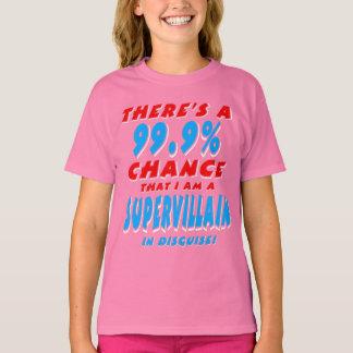 99.9% ben ik een SUPER SCHURK (wht) T Shirt