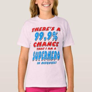 99.9% ben ik een SUPERHERO (blk) T Shirt