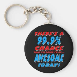 99.9% DIE GEWELDIGE GAAN ZIJN (WHT) SLEUTELHANGER