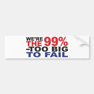 99% - te Groot om te ontbreken Bumpersticker