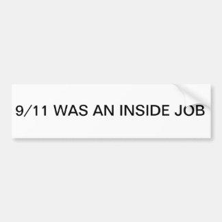 9/11 BinnenSticker van de Bumper van de Baan Bumpersticker