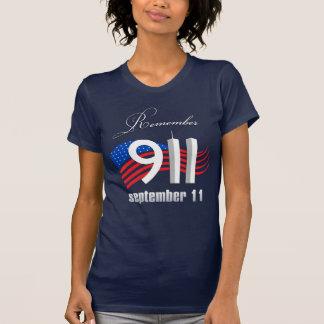 9/11 herinner 11 September - Marineblauwe T-shirt