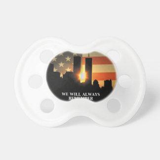 9-11 herinner me - wij zullen nooit vergeten fopspenen