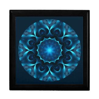 A01. Middernacht Blauwe Mandala Betegelde Box.1 Decoratiedoosje