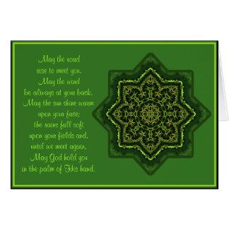 A035 card.2-mag de Keltische Zegen Mandala de Weg Wenskaart
