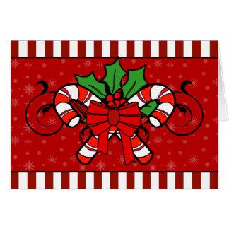 A7 de Kerstkaart van de Strepen van het Riet van Briefkaarten 0