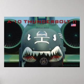 A-10 het Poster van de blikseminslag