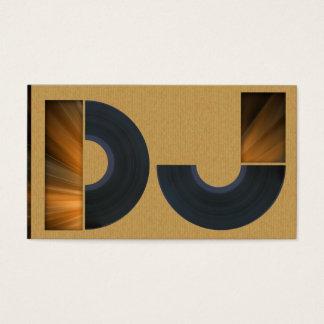 A cool carboard DJ business card Visitekaartjes