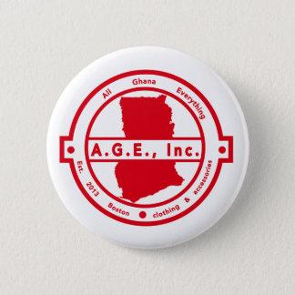 A.G.E., Knoop van het Logo van Inc. de Rode Ronde Button 5,7 Cm