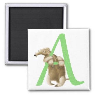 A voor Aanvankelijke Miereneter - Groen Punt - Koelkast Magneetjes