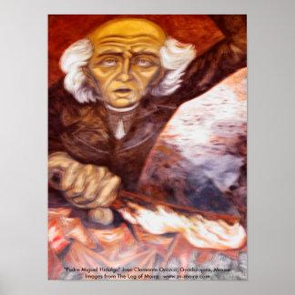 """""""Aalmoezenier Miguel Hidalgo"""" Jose Clemente Orozco Poster"""
