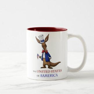 Aamerican Aadrdvark Tweekleurige Koffiemok