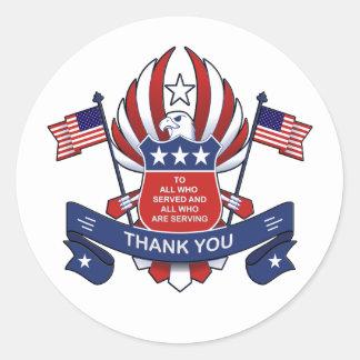 Aan Alle Stickers van de Dag van Veteranen
