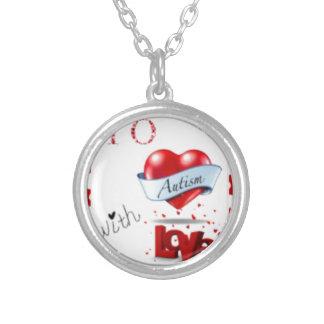 Aan Autisme met het Logo van de Liefde Zilver Vergulden Ketting