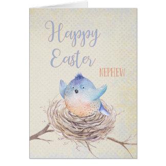 Aan Blauwe Vogel van Pasen van de Neef de Kaart