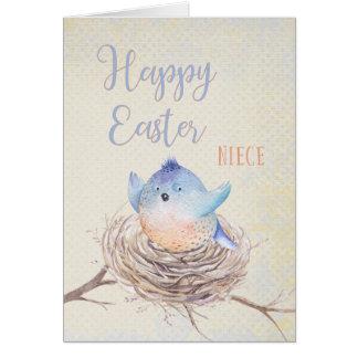 Aan Blauwe Vogel van Pasen van de Nicht de Kaart