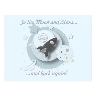 """""""Aan de Maan en de Sterren…"""" Briefkaart"""