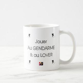 Aan de POLITIEAGENT en LOVER spelen - Koffiemok