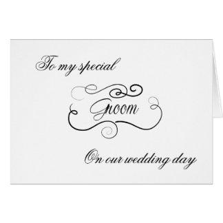 Aan Mijn Bruidegom op Huwelijk Dag Notecards Briefkaarten 0