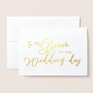 Aan mijn Bruidegom op ons elegant Manuscript van Folie Kaarten