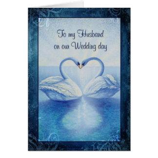 Aan mijn Echtgenoot op onze dag van het Huwelijk Briefkaarten 0