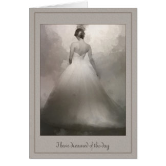 Aan mijn het dromen van de Bruid van de Echtgenoot Briefkaarten 0
