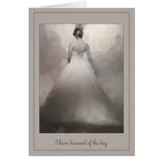 Aan mijn het dromen van de Bruid van de Echtgenoot Wenskaart