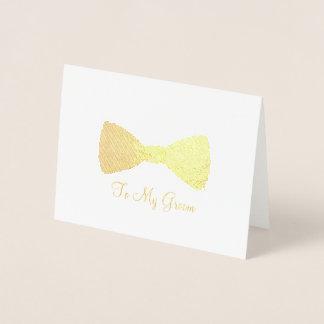 Aan Mijn Vlinderdas Bowtie van het Huwelijk van Folie Kaarten