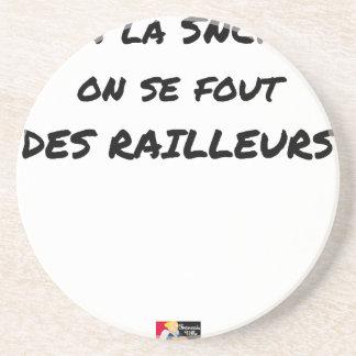 AAN SNCF MEN FOUT VAN de SPOTTERS - Woordspelingen Zandsteen Onderzetter