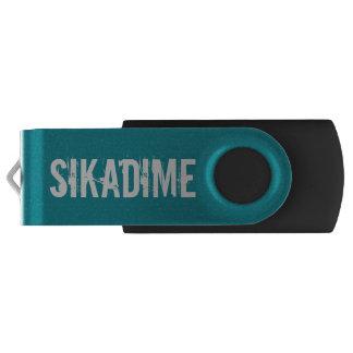 Aandrijving van de Flits van Sikadime de Groene Swivel USB 2.0 Stick