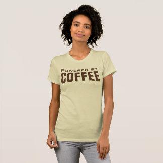 Aangedreven door Grappige Koffie T Shirt