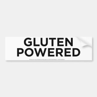 Aangedreven gluten bumpersticker