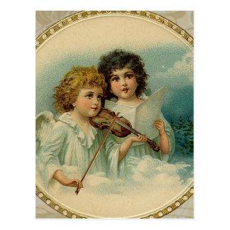 Aangenaam - Twee Kleine Muzikale Engelen Briefkaart