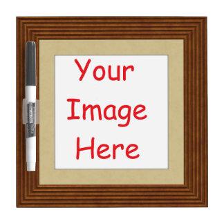 Aangepast gepersonaliseerd gedrukt lijstafbeelding whiteboard