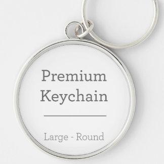Aangepast om Foto Keychain Zilverkleurige Ronde Sleutelhanger